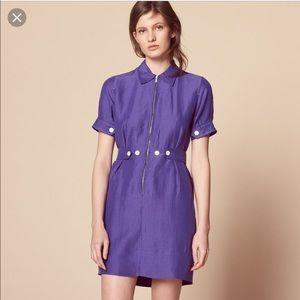 Sandro Paris Purple dress worn once size 0